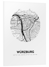 Forex  Plan de la ville de Würzburg - 44spaces