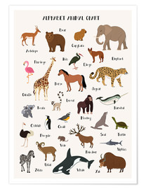 Poster  Apprendre l'alphabet (anglais) - Kidz Collection