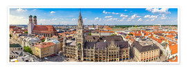 Poster  Munich, un beau panorama - Art Couture