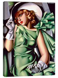 Toile  Young lady with gloves - Tamara de Lempicka
